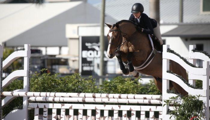 31/01/2018 ; Wellington FL ; Winter Equestrian Festival - Week 4 ; 6157, WANDERLUST, MINDY MOXEY ; equitation 15 to 17 3'3 ; Sportfot