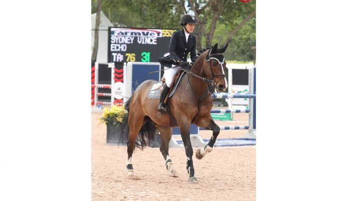 13/03/2013 ; Wellington FL ; Winter Equestrian Festival 2013 - Week 10 - Palm Beach Florida ; ainsley vince sydney vince echo farm vet adult modified jumper ; Sportfot